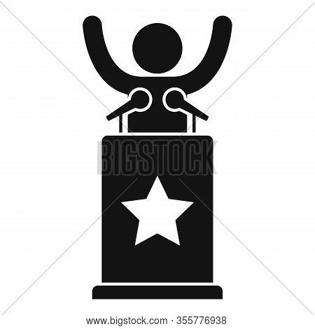 Famous Speaker Icon. Simple Illustration Of Famous Speaker Vector Icon For Web Design Isolated On Wh