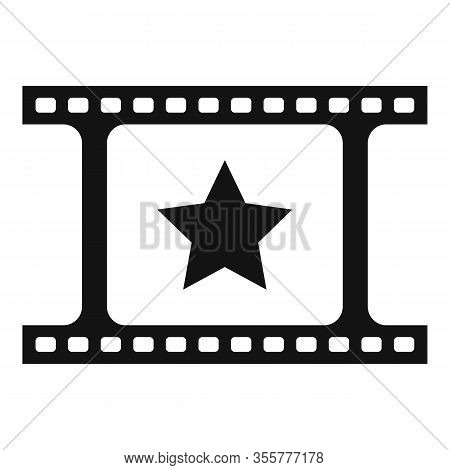 Famous Film Icon. Simple Illustration Of Famous Film Vector Icon For Web Design Isolated On White Ba