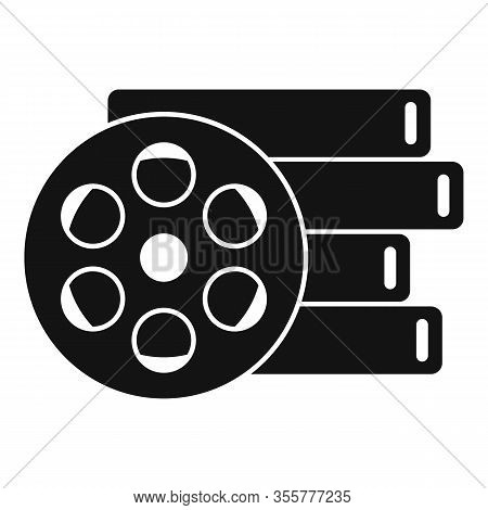 Cinema Reel Icon. Simple Illustration Of Cinema Reel Vector Icon For Web Design Isolated On White Ba