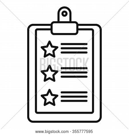 Famous Actor Checklist Icon. Outline Famous Actor Checklist Vector Icon For Web Design Isolated On W