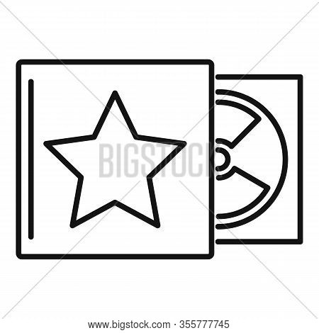 Celebrity Music Cd Icon. Outline Celebrity Music Cd Vector Icon For Web Design Isolated On White Bac