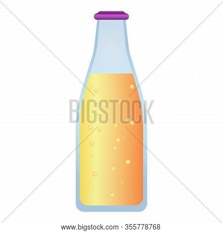 Smoothie Bottle Icon. Cartoon Of Smoothie Bottle Vector Icon For Web Design Isolated On White Backgr