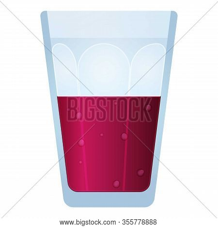 Glass Of Smoothie Icon. Cartoon Of Glass Of Smoothie Vector Icon For Web Design Isolated On White Ba