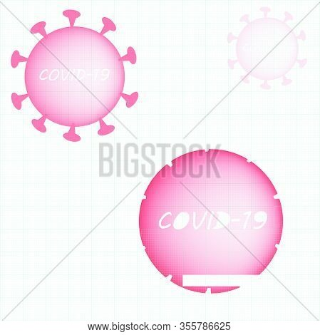 Coronavirus Disease Covid-19 Vector Illustration Background. Virus Biohazard Concept