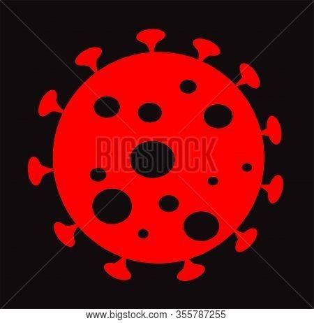 Coronavirus Icon, Dangerous Virus Sign, Biohazard, World Pandemic, Epidemic
