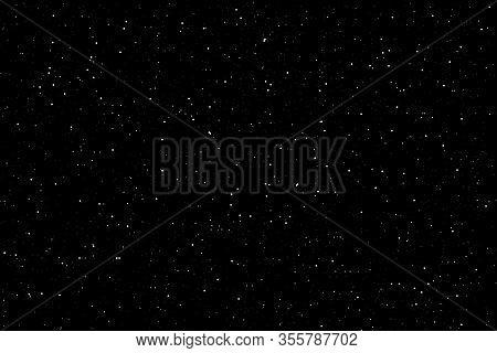 Sky Night Background Dark Starry Sky Vector Illustration