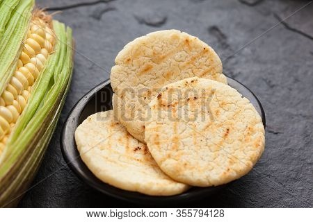 Roasted Traditional South American Corn Arepa