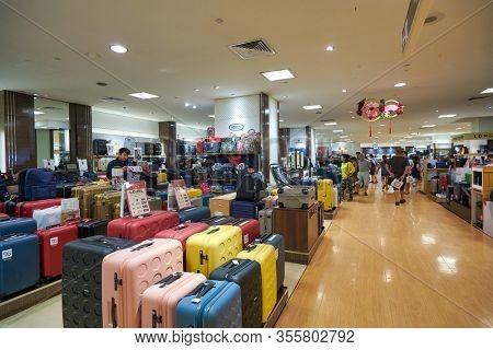 SINGAPORE - CIRCA JANUARY, 2020: interior shot of Takashimaya department store in Singapore.