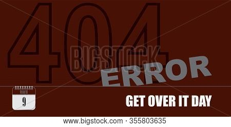 Post Card For Event March Day Get Over It Day - 404 Error