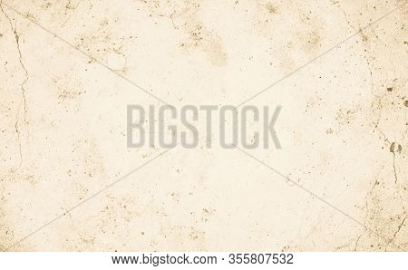 Cream Concrete Wall For Interiors Or Outdoor Exposed Surface Polished Concrete. Cement Have Sand Sto