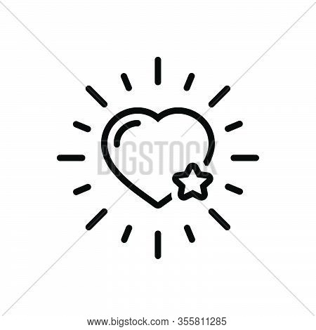 Black Line Icon For Favorite Most-liked Dearest Like Preferred Heart Chosen Choice Ideal