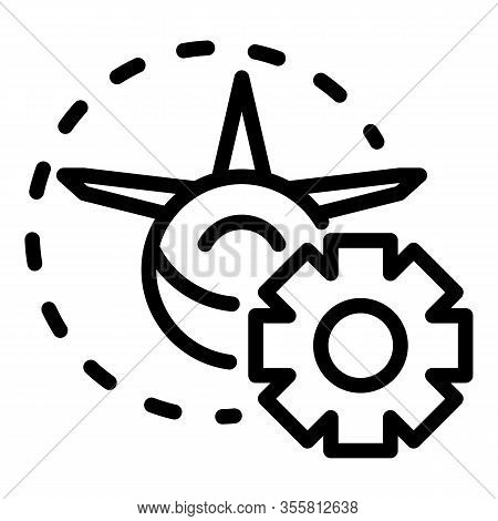 Service Airbus Repair Icon. Outline Service Airbus Repair Vector Icon For Web Design Isolated On Whi