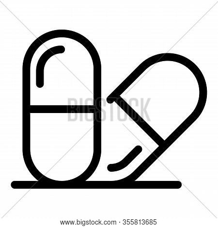 Antistress Capsule Icon. Outline Antistress Capsule Vector Icon For Web Design Isolated On White Bac