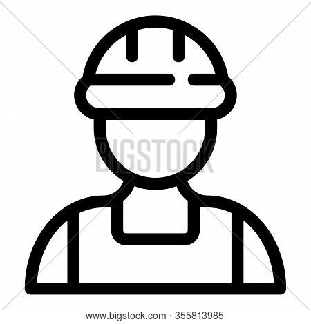 Contractor Man Icon. Outline Contractor Man Vector Icon For Web Design Isolated On White Background