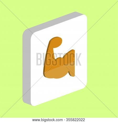 Biceps, Hand Simple Vector Icon. Illustration Symbol Design Template For Web Mobile Ui Element. Perf
