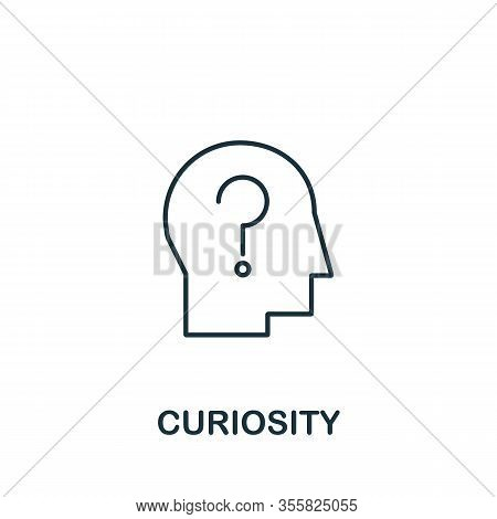 Curiosity Icon From Life Skills Collection. Simple Line Curiosity Icon For Templates, Web Design And