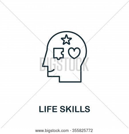 Life Skills Icon. Simple Line Element Life Skills Symbol For Templates, Web Design And Infographics