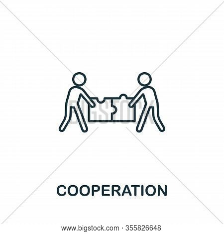 Cooperation Icon From Teamwork Collection. Simple Line Element Cooperation Symbol For Templates, Web