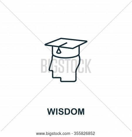 Wisdom Icon From Teamwork Collection. Simple Line Element Wisdom Symbol For Templates, Web Design An