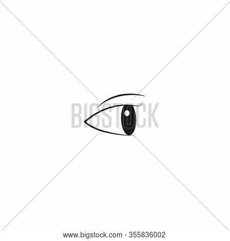 Eye On White Background. Woman Eye. The Eye Logo. Eyes Art. Human Eye, Stock Vector Illustration Iso