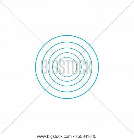 Concentric Circle Elements. Epicenter Concept. Abstract Circle Pattern. Stock Vector Illustration Is