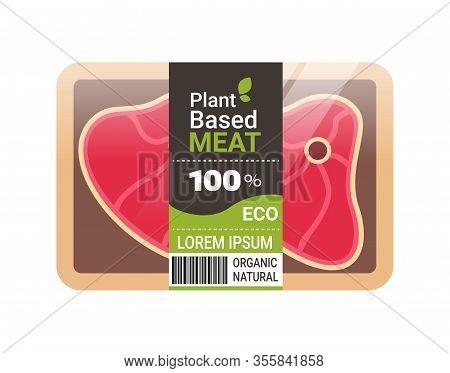 Plant Based Vegetarian Steak Beyond Meat In Packaging Organic Natural Vegan Food Concept Horizontal