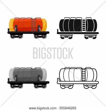 Vector Illustration Of Wagon And Cistern Symbol. Web Element Of Wagon And Tank Stock Vector Illustra