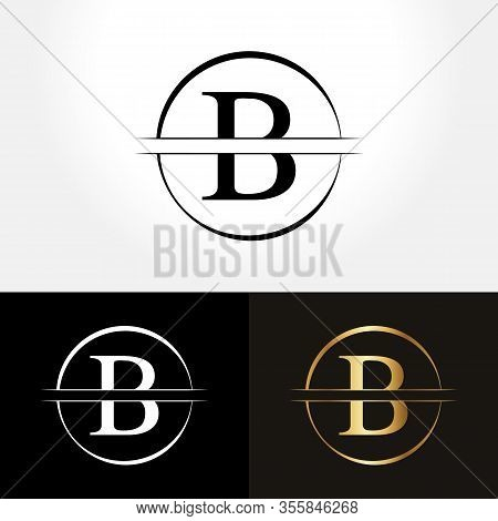 Initial Circle Letter B Logo Design Business Vector Template. Creative Abstract Letter B Logo Vector