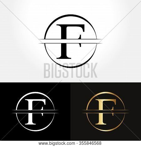 Initial Circle Letter F Logo Design Business Vector Template. Creative Abstract Letter F Logo Vector