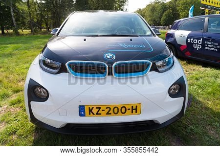 Enschede, Netherlands - August 16, 2018: Electric Bmw I3 During A Technology Demonstration On The Fo