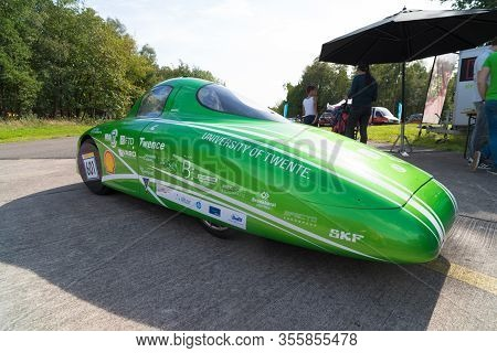 Enschede, Netherlands - 16 August 2018: Hydrogen Car From The Green Team Twente, A Student Team From