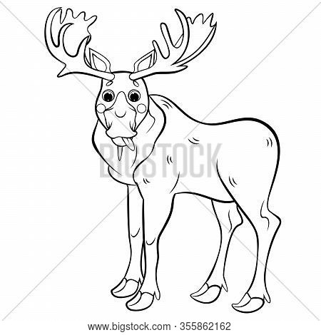 Cartoon Moose coloring page | Free Printable Coloring Pages | 470x450