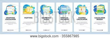 Graphing Calculator, Math Equation, Geometry Figures, Algebra Calculator, Plotting. Mobile App Onboa