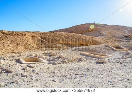 Old Archeological Excavations In Valley Of Kings. Luxor, Egypt