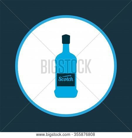 Scotch Icon Colored Symbol. Premium Quality Isolated Whisky Element In Trendy Style.