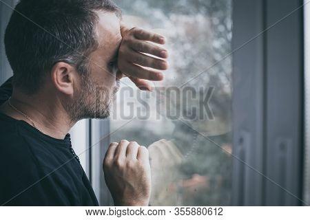 Portrait One Sad Man