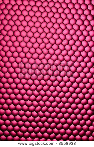 A closeup look of a honeycomb diffuser. scales skin poster