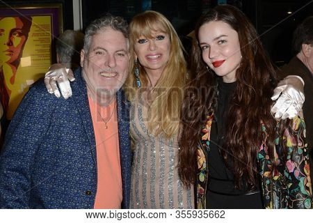LOS ANGELES - FEB 7:  Ron Russell, Laurene Landon, Reilley Perrins at the