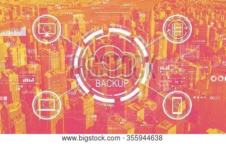 Backup Concept With The New York City Skyline