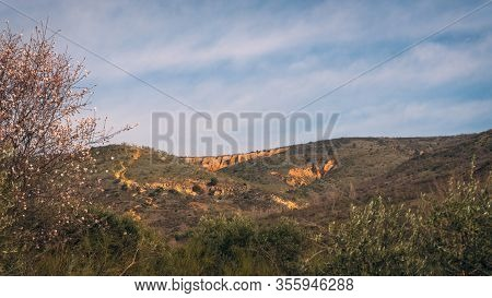 View In The Distance Of Las Cárcavas In Madrid, Spain. Concept Of Nature.