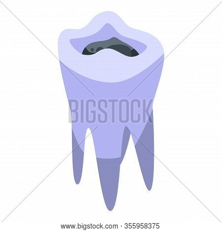 Caries Tooth Restoration Icon. Isometric Of Caries Tooth Restoration Vector Icon For Web Design Isol