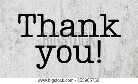 Thank You Text Appreciation Thanks Word Presentation