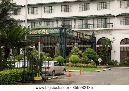 Manila, Ph - Oct. 3: Manila Hotel Facade On October 1, 2011 In Manila Bay, Manila. Manila Hotel Is A