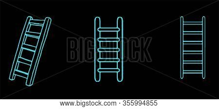Staircase Icon Isolated On Background , Vector, Walk, Walkway, Way, Wooden