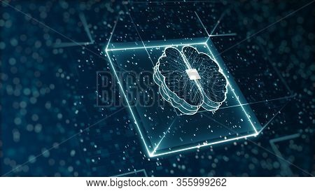 Abstract Technology Artificial Intelligence (ai) Digital Binary Data And Big Data Concept.
