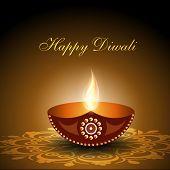Beautiful illuminating Diya background for Diwali or Deepawali festival. EPS 10. poster