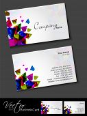 Professional and designer business card template or visiting card set with creative abstract design. EPS 10. poster