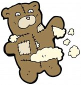 torn teddy bear cartoon poster