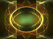 3D rendered fractal: abstract illustration as magic mirror. poster