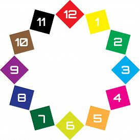 Clock Dial Enormous Numbers In Diamond Hourly Swatch On Transparent Background